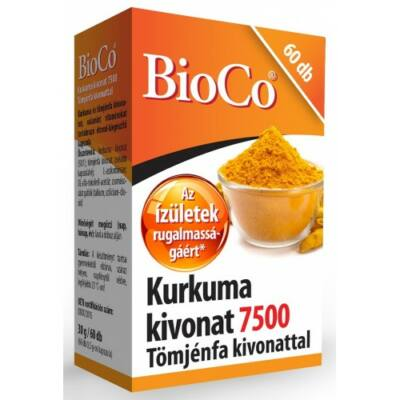 Kurkuma kivonat 7500 Tömjénfa kivonattal 60x -BioCo-