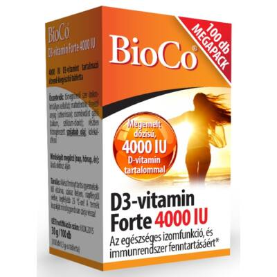 D3-vitamin Forte 4000 IU 100 db  -BioCo-