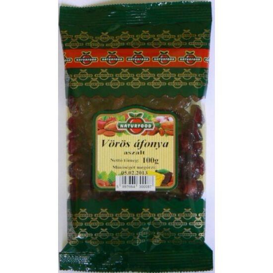 Aszalt vörös áfonya  100 gr.  -Naturfood-