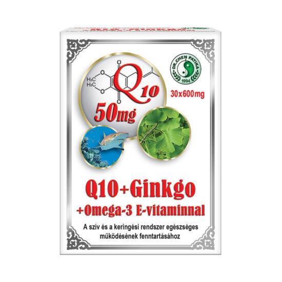 Q10 + ginkgo + omega-3 kapszula -Chen-