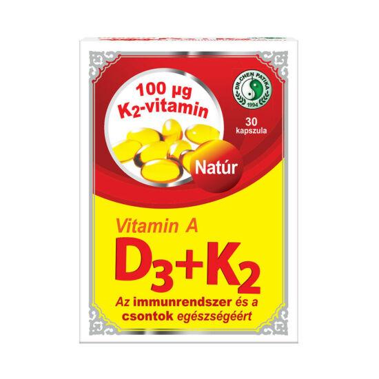 Vitamin A+D3+K2 kapszula -Chen patika-