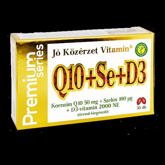 Prémium Q10+Se+D3 -Jó Közérzet-