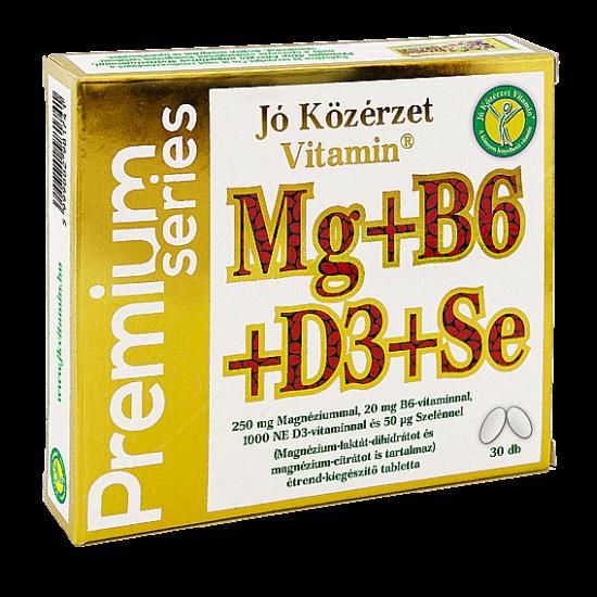 Prémium Mg+B6+D3+Se  -Jó közérzet-