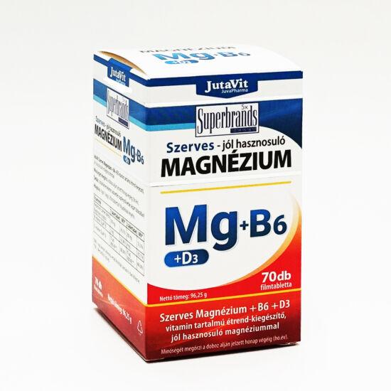 Szerves Magnézium + B6 + D3 filmtabletta 70x -Jutavit-