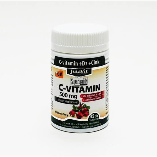 C vitamin nyújtott felszív. 500 mg. 45x -Jutavit-